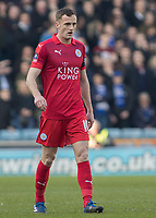Football - 2016 / 2017 FA Cup - Fifth Round: Millwall vs. Leicester City <br /> <br /> Andy King of Leicester City at The Den<br /> <br /> COLORSPORT/DANIEL BEARHAM