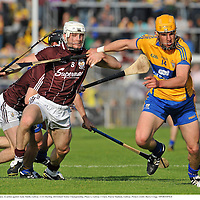 2 July 2011; John Conlon, Clare, in action against Andy Smith, Galway. GAA Hurling All-Ireland Senior Championship, Phase 2, Galway v Clare, Pearse Stadium, Galway. Picture credit: Barry Cregg / SPORTSFILE