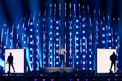 May 7, 2018 - Lisbon, Portugal - Singer Mikolas Josef of Czech Republic performs during the Dress Rehearsal of the first Semi-Final of the 2018 Eurovision Song Contest, at the Altice Arena in Lisbon, Portugal on May 7, 2018. (Credit Image: © Pedro Fiuza/NurPhoto via ZUMA Press)