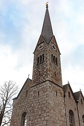 THEMENBILD - die evangelische Pfarrkirche von Hallstatt, aufgenommen am 31. März 2018, Hallstatt, Österreich // the Protestant parish church of Hallstatt on 2018/03/31, Hallstatt, Austria. EXPA Pictures © 2018, PhotoCredit: EXPA/ Stefanie Oberhauser