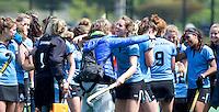 BLOEMENDAAL -  Vreugde bij HGC na   de  tweede play out wedstrijd tussen de vrouwen van Bloemendaal en HGC (0-1) . COPYRIGHT KOEN SUYK
