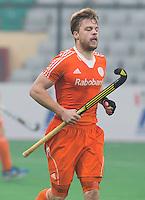 NEW DELHI -  Mink van der Weerden tijdens de kwart finale van  de finaleronde van de Hockey World League tussen de mannen van Nederland en Duitsland . ANP KOEN SUYK