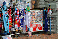 Hillsborough Memorial outside the stadium before the Sky Bet Championship match between Sheffield Wednesday and Cardiff City at Hillsborough, Sheffield, England on 30 April 2016. Photo by Ellie Hoad.