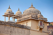 Chattri at The Amber Fort a Rajput fort built 16th Century in Jaipur, Rajasthan, Northern India
