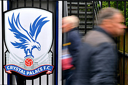 A general view of supporters walking by before the Premier League match at Selhurst Park, London.