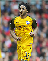 Football - 2017 / 2018 Premier League - Arsenal vs. Brighton & Hove Albion<br /> <br /> Isaiah Brown of Brighton at The Emirates.<br /> <br /> COLORSPORT/ANDREW COWIE