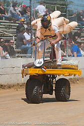 Thor Drake on the Pizza 3-wheeler at the Dirt Quake races in Castle Rock, OR. Sunday, June 1, 2014. Photography ©2014 Michael Lichter.