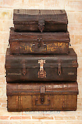 Antique travelling trunks