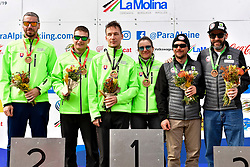 Podium, Giant Slalom at the WPAS_2019 Alpine Skiing World Cup, La Molina, Spain