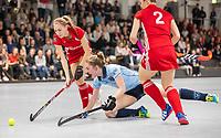 HAMBURG  (Ger) - Match 20,  for FINAL, LMHC Laren - Dinamo Elektrostal (Rus)  Photo: Elin van Erk (Laren)  Eurohockey Indoor Club Cup 2019 Women . WORLDSPORTPICS COPYRIGHT  KOEN SUYK