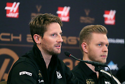 Romain Grosjean and Kevin Magnussen during the Rich Energy Haas F1 Team 2019 car launch at the Royal Automobile Club, London.