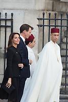 Prince Moulay El Hassan Obsèques de Jacques Chirac Lundi 30 Septembre 2019 église Saint Sulpice Paris