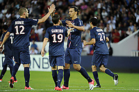 FOOTBALL - FRIENDLY GAMES 2012/2013 - TROPHEE DE PARIS - PARIS SAINT GERMAIN v FC BARCELONA - 4/08/2012 - PHOTO JEAN MARIE HERVIO / REGAMEDIA / DPPI - JOY ZLATAN IBRAHIMOVIC (PSG)  AFTER HIS PENALTY