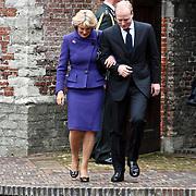 NLD/Wassenaar/20080403 - Herdenkingsdienst Erik Hazelhoff Roelfzema, prinses Irene en zoon Carlos Bourbon de Parma