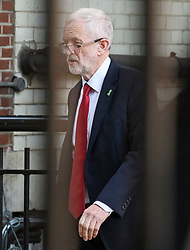 © Licensed to London News Pictures. 15/05/2019. London, UK. Labour Party leader Jeremy Corbyn is seen at the Houses of Parliament in Westminster, London. Government has announced that MPs will get another chance to vote on Theresa May's Brexit Bill in early June, after EU parliament elections. Photo credit: Ben Cawthra/LNP