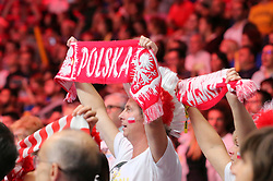 September 30, 2018 - Turin, Piedmont, Italy - Polish fans during the final match between Brazil and Poland for the FIVB Men's World Championship 2018 at Pala Alpitour in Turin, Italy, on 30 September 2018. Poland won 3: 0 and it is confirmed world champion. (Credit Image: © Massimiliano Ferraro/NurPhoto/ZUMA Press)