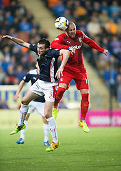 Falkirk's Joe Shaughnessy and Rangers Boyd. Falkirk 1 v 3 Rangers, Scottish League Cup game played 23/9/2014 at The Falkirk Stadium.