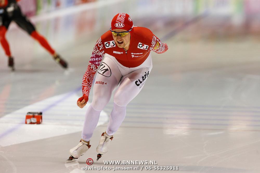 NLD/Heerenveen/20130111 - ISU Europees Kampioenschap Allround schaatsen 2013, 5000 meter heren, Denia Yuskov
