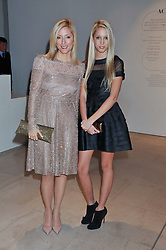 Left to right, CROWN PRINCESS MARIE-CHANTAL OF GREECE and her daughter PRINCESS MARIA OLYMPIA OF GREECE at a private view of 'Valentino: Master Of Couture' at Somerset House, London on 28th November 2012.