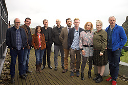 2016 Edinburgh International Film Festival, (left to right) Paul Savage (The Delgados), David Sosson, Emma Pollock (The Delgados), Alex Kapranos (Franz Ferdinand), Mark Percival (musician/writer), Stewart Henderson (Chemical Underground/ The Delgados), Niall McCann (writer/Director), Stephanie Gibson, Nicky Grogan (producer), Paul Walsh (producer), during the WORLD PREMIERE (DOCUMENTARY) LOST IN FRANCE, The Apex Hotel Grassmarket, Edinburgh16th June 2016, (c) Brian Anderson   Edinburgh Elite media