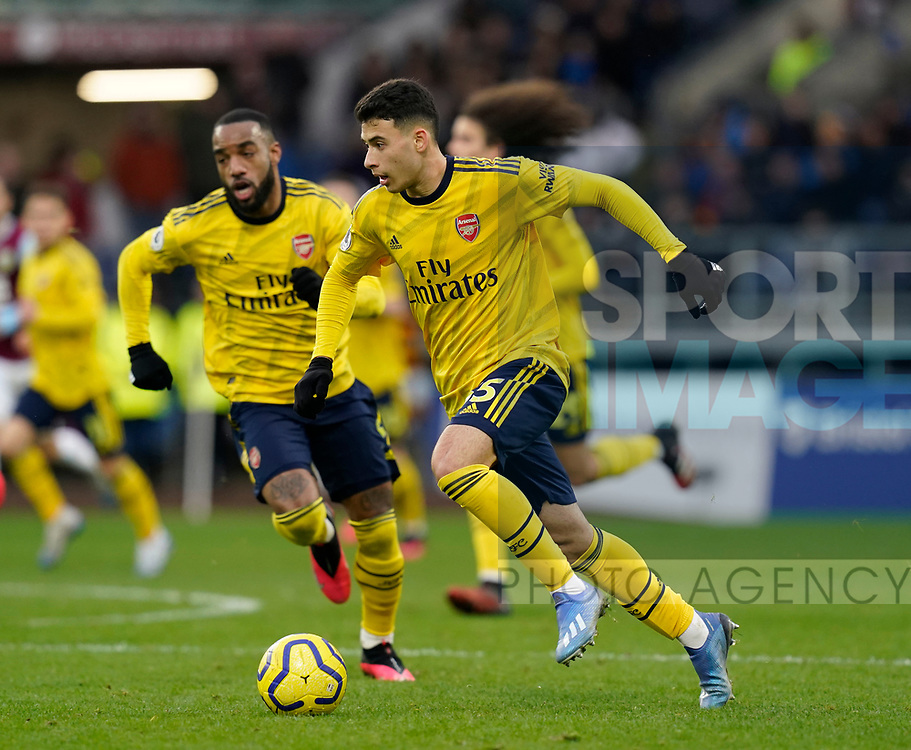 Gabriel Martinelli of Arsenal breaks forward during the Premier League match at Turf Moor, Burnley. Picture date: 2nd February 2020. Picture credit should read: Andrew Yates/Sportimage