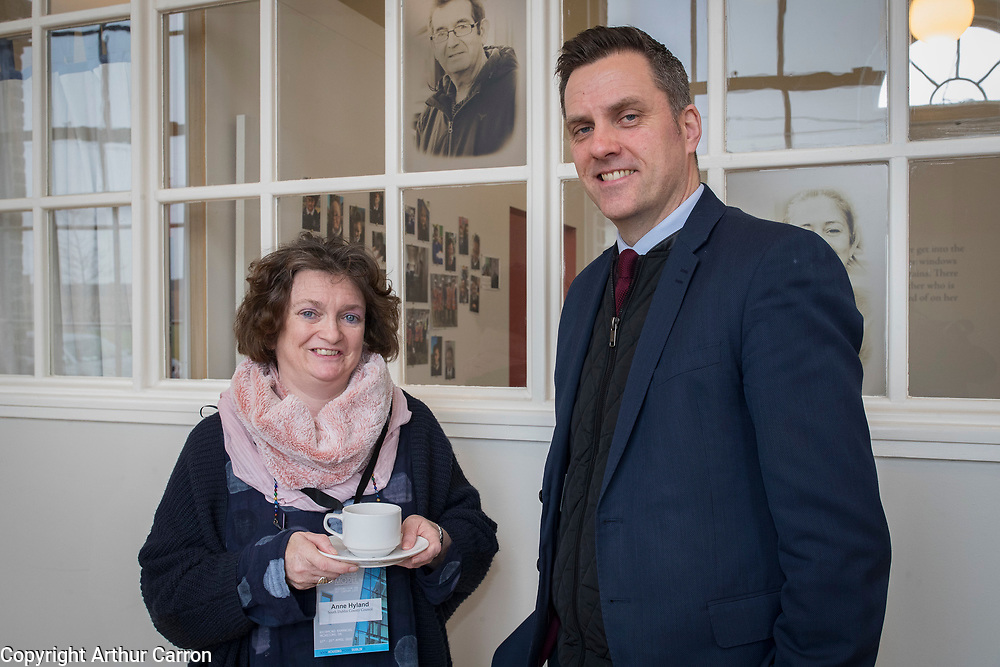 NO FEE PICTURES <br /> 16/4/19 Ann Ryland and Brian Keaney, South Dublin CC, at a discussion on Cost Rental models of housing took place this morning during a seminar entitled 'Delivering New Affordable Rental for Dublin', at Richmond Barracks in Inchicore, as part of the Vienna Model of Housing exhibition, taking place in Dublin until 25th April. Picture:Arthur Carron