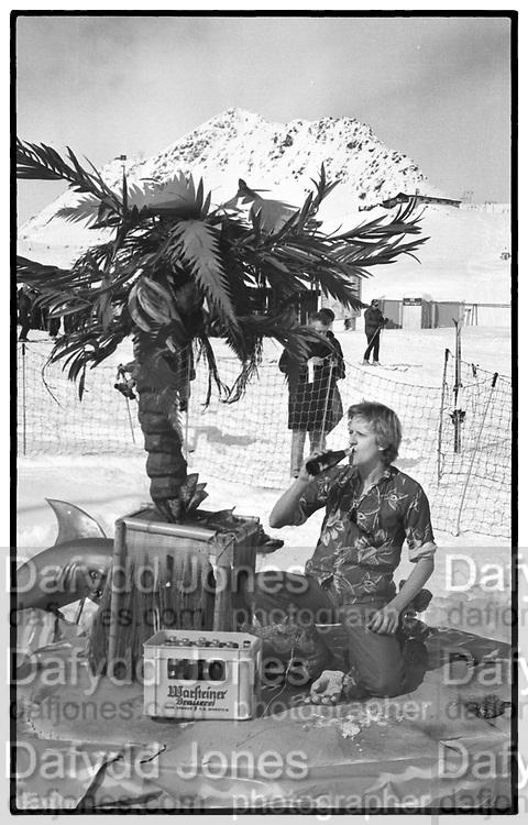 STEVE SMITHWICK, Dangerous Sports club,ski race St. Moritz. 1984.