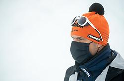 Miha Verdnik, coach of Slovenia during Ladies' Giant Slalom at 57th Golden Fox event at Audi FIS Ski World Cup 2020/21, on January 16, 2021 in Podkoren, Kranjska Gora, Slovenia. Photo by Vid Ponikvar / Sportida