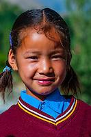 School children; Ladakh, Jammu and Kashmir State, India.