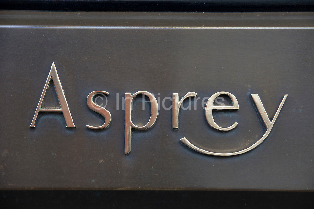 Sign for high end jewellers and exclusive brand Asprey.