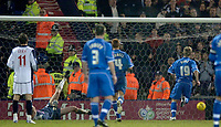 Photo: Glyn Thomas.<br />West Bromwich Albion v Reading. The FA Cup. 07/01/2006.<br />Kevin Doyle (R) equalises for Reading from the penalty spot.