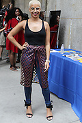 13 September-Brooklyn, New York:  Dana Blair, Essence Live Host attends the Essence Street Style Block Party held at The Dumbo Archway Under the Manhattan Bridge on September 13, 2015 in the DUMBO section of Brooklyn, New York.   (Photo by Terrence Jennings/terrencejennings.com)