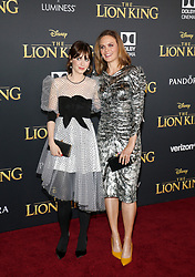 Zooey Deschanel and Emily Deschanel at the World premiere of 'The Lion King' held at the Dolby Theatre in Hollywood, USA on July 9, 2019.