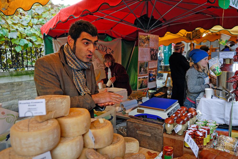 Borough Market, Giuseppe Mele selling Italian Calabria's handmade food.