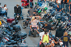 Main Street from the tower on Saturday at the Sturgis Black Hills Rally. Sturgis, SD, USA. August 2, 2014.  Photography ©2014 Michael Lichter.