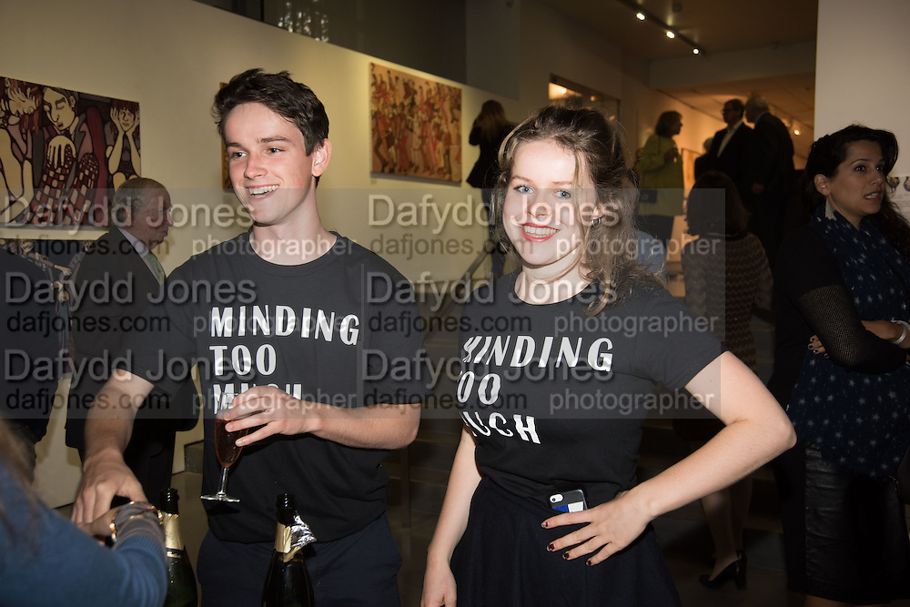 BILLY TREND; ELEANOR TREND, Exhibition opening of paintings by Charlotte Johnson Wahl. Mall Galleries. London, 7 September 2015.