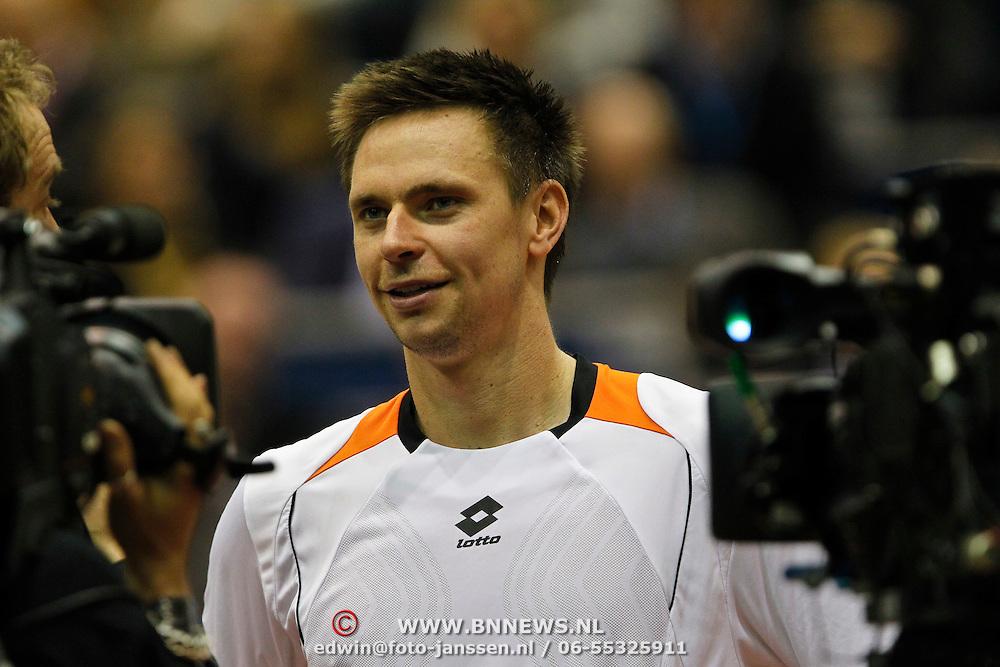 NLD/Rotterdam/20100214 - ABN - AMRO tennistoernooi 2010, finale, winnaar Robin Söderling word geinterviewd