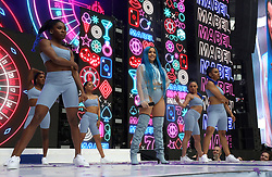 Mabel on stage during Capital's Summertime Ball. The world's biggest stars perform live for 80,000 Capital listeners at Wembley Stadium at the UK's biggest summer party.
