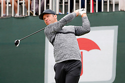 June 23, 2018 - Cromwell, CT, U.S. - CROMWELL, CT - JUNE 23: Paul Casey of England drives from the 1st tee during the Third Round of the Travelers Championship on June 23, 2018, at TPC River Highlands in Cromwell, Connecticut. (Photo by Fred Kfoury III/Icon Sportswire) (Credit Image: © Fred Kfoury Iii/Icon SMI via ZUMA Press)