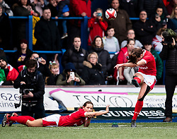 Robyn Wilkins of Wales converts<br /> <br /> Photographer Simon King/Replay Images<br /> <br /> Six Nations Round 1 - Wales Women v Italy Women - Saturday 2nd February 2020 - Cardiff Arms Park - Cardiff<br /> <br /> World Copyright © Replay Images . All rights reserved. info@replayimages.co.uk - http://replayimages.co.uk