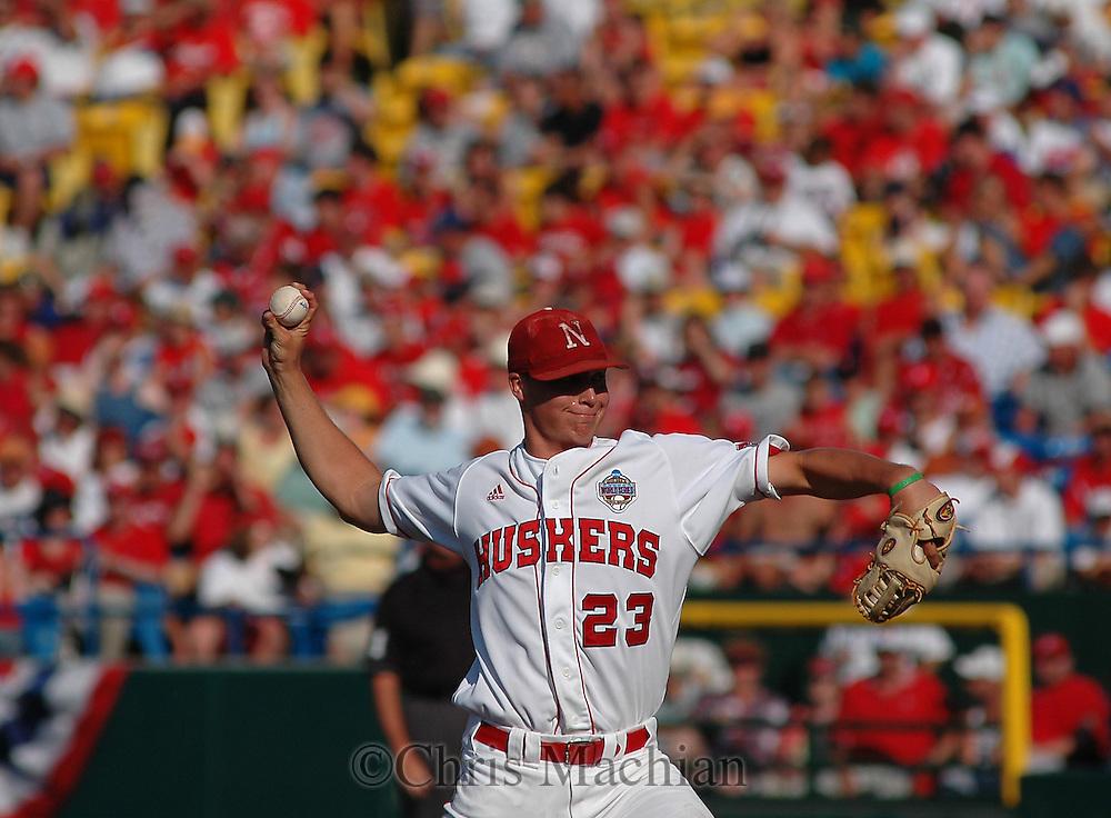 6/19/05 Omaha, NE Nebraska's Johnny Dorn at the College World Series at Rosenblatt Stadium..(Chris Machian/Prairie Pixel Group)