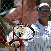 Lee Taylor, Australia, in action in the 65 Mens Singles during the 2009 ITF Super-Seniors World Team and Individual Championships at Perth, Western Australia, between 2-15th November, 2009.