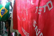 Belo Horizonte_MG, Brasil...Manifestantes de grupos sociais contra 47º reunião anual do Bid...Protesters against 47 of the annual meeting of the BID...Foto: LEO DRUMOND / NITRO