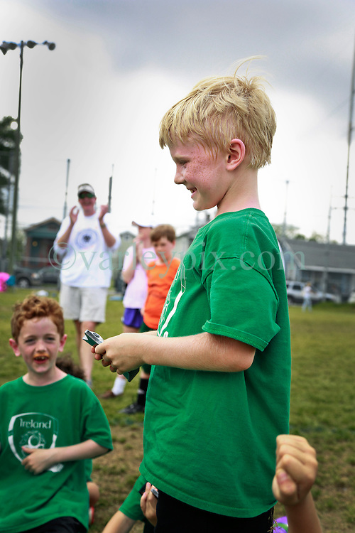 12 April 2014. Carrolton Boosters Soccer. New Orleans, Louisiana. <br /> U8 Championship final. Team Ireland emerge victorious in a 5-3 win over the Fireballs. Champions every one of them - both teams.<br /> Photo; Charlie Varley