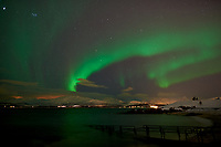 Northern Lights from Telegrafbukta Beach in Tromsø Norway. Image taken with a Nikon D800 camera and 24 mm f/1.4 lens (ISO 800, 24 mm, f/2, 8 sec). Raw image processed with Capture One Pro