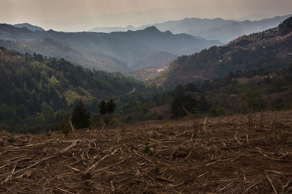 The mountains around El Zancudo, Honduras, looking down into Morazán, El Salvador.