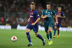 August 13, 2017 - Barcelona, Spain - Ivan Rakitic of FC Barcelona during the Spanish Super Cup football match between FC Barcelona and Real Madrid on August 13, 2017 at Camp Nou stadium in Barcelona, Spain. (Credit Image: © Manuel Blondeau via ZUMA Wire)