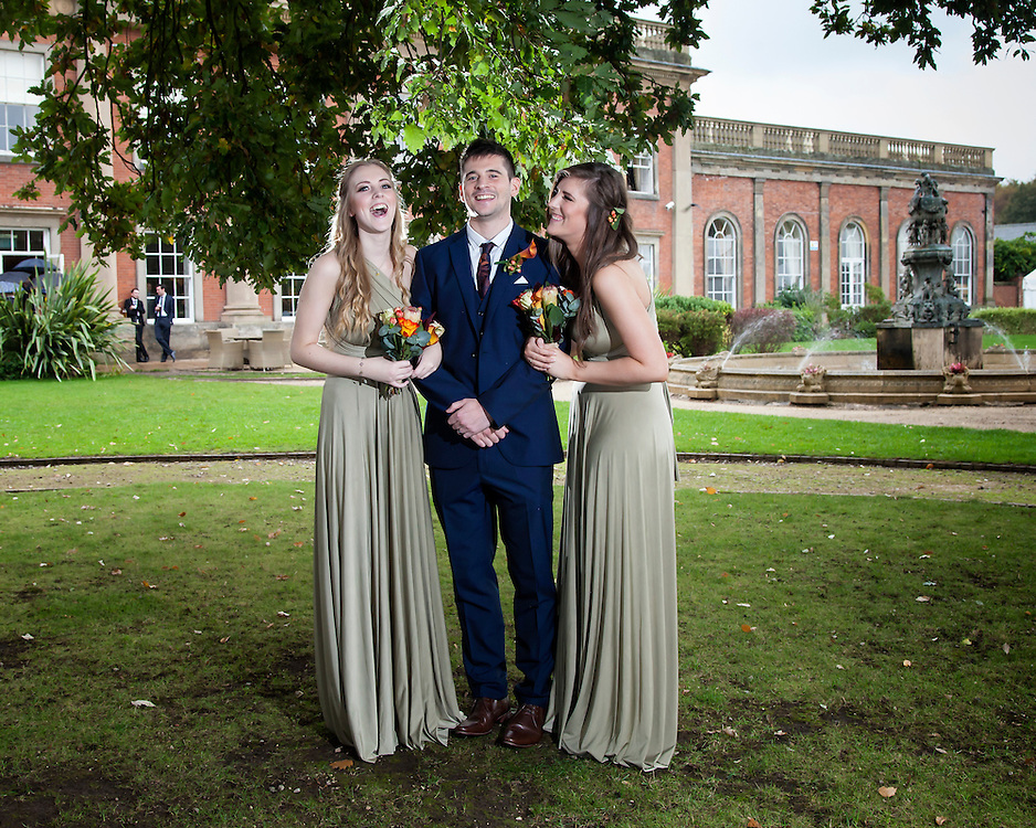 James and his sisters getting ready their family photos