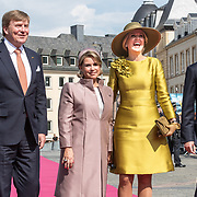 LUX/Luxemburg/20180523 - Staatsbezoek Luxemburg dag 1, Groothertogin Maria Teresa, Koning Willem Alexander, Koningin Maxima en Groothertog Henri