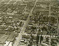 1931 Looking west at Sunset Blvd. from Bronson Ave.